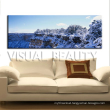 Snow Covered Natural Scenery Canvas Painting Wall Art Home Decoration