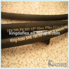 Oil Resistant SAE100 R6 Single Textile Braided Hydraulic Rubber Hose 19mm