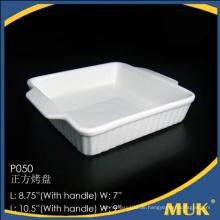 Quadratische Design Porzellan Großhandel keramischen weißen modernen Platte gesetzt