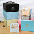 Foldable Cake Box with Transparent Window