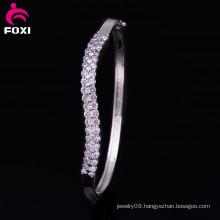 Rhodium Plated Synthetic Shining White CZ Diamond Jewellery Bracelets