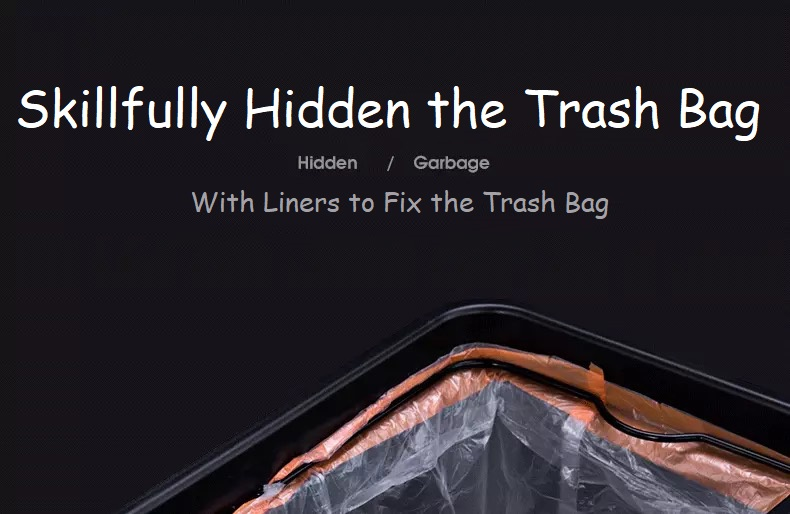 Garbage Bin with Trash Bag Fixer