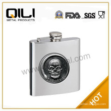 Novelty whisky stainless steel hip flask