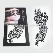 Custom full face water transfer tattoo temporary makeup tatoos for Halloween