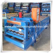 Flachdachabdichtung Blatt rot Metall glasierte Ziegel Roll Formmaschine