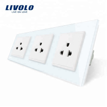 Livolo Новый стандарт США Электрическая розетка 16A Тройная розетка VL-C7C3US-11