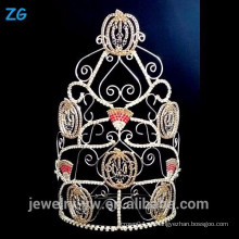 Corona alta grande del desfile de Halloween, corona de Halloween de las calabazas