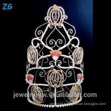 Large Tall Halloween Pageant Crown, Pumpkins Halloween Crown