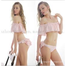 OEM Hot Sale Sexy Cute Falbala Strapless Swimwear