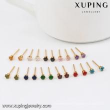 29358-Xuping mini 1gram women earing jewelry gold plated 18k