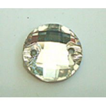 Flat Back Round Glass Beads