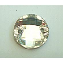 Flache Rückseite Runde Glasperlen