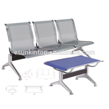 Three seats chairs without armrest for commerical used, For office/ Hospital, Aluminum armrest and legs finishing (KS3T-3)