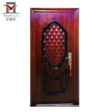 puerta de acero de seguridad de casa moderna