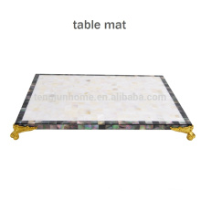 CBM-MP New Style Mixed Shell Mosaic placemat for table decoration