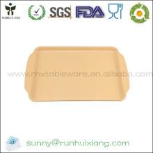 Bandeja de comida de fibra de bambu eco-friendly e biodegradável
