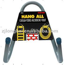 2 perchas de suspensión de metal j ganchos gancho de metal de supermercado con titular de la señal