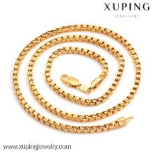 40706 Xuping Charmes en gros Hommes Mode Or Couleur Chaîne Collier Bijoux