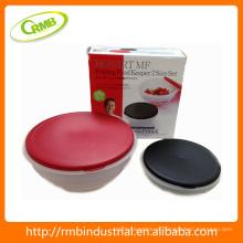 2014 novo 2pcs conjunto plástico recipiente de alimentos (RMB)