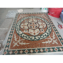 Pattern Mosaic Marble Stone Mosaic Floor Tile (ST132)