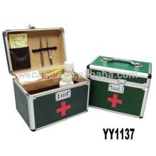 caja de kit de primeros auxilios de aluminio con 2 opciones de color