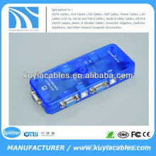 USB 2.0 Auto KVM SWITCH / 4 ports Mini-Auto USB KVM Switch (Bleu)