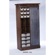 Armario de madera portátil Ropa Organizador de almacenamiento Dormitorio Armario