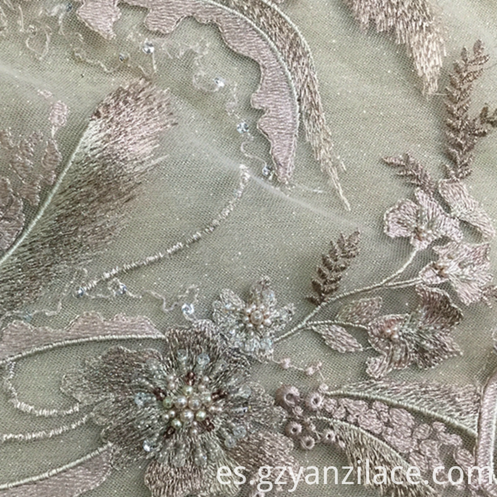 Embroidered Flower 3d Lace Fabric