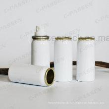 Белый Алюминиевый аэрозоль может для косметической духи спрей Упаковка (ппц-ААС-043)