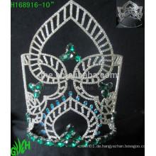 Großhandelsneueste Entwurfs-große Sommergrün-MiniRhinestone-Tiara-Krone
