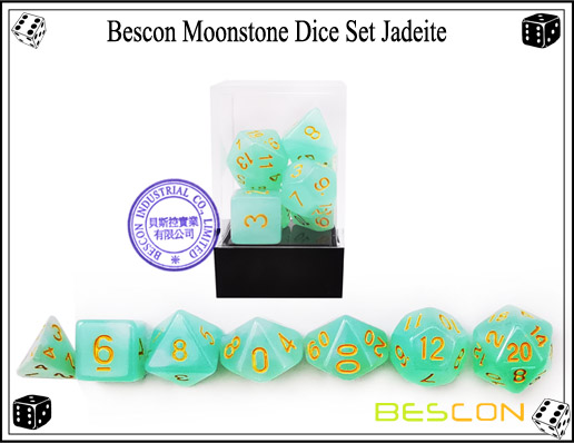 Jadeite Dice Set-5