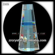 Suporte de vela de cristal popular Z009