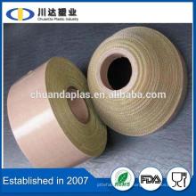 Fácil de usar Aislamiento resistente al calor Autoadhesivo PTFE Teflon Cinta de fibra de vidrio revestida