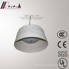 Chinese Style Hotel Opal White Rattan Round Pendant Lamp