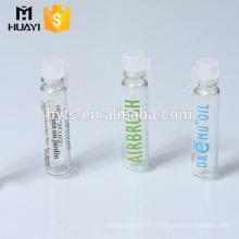 1ml 2ml parfum petit tube en verre bouteille