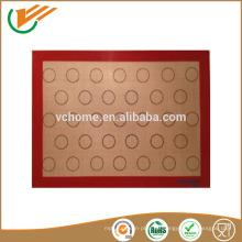 Kundenspezifische Lebensmittelqualität China Lieferanten Silikon Backmatte in FDA eingehalten