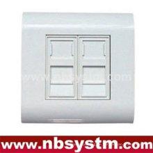 Dual-Port-Oberflächenbox mit Verschluss
