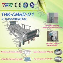 Cama manual manual de doble manivela (THR-CMHD)