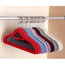 Velvet Suit Hanger Simple Slim-Line Suit Flocked Hanger