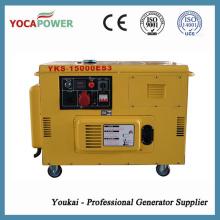 Generador Diesel de Trifásico 12.5kVA Generador Silencioso Portátil de 10kw