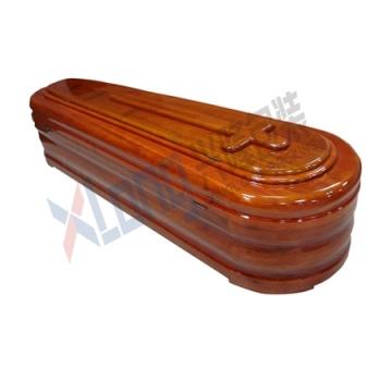 Ataúd de chapa de madera Interior satinado