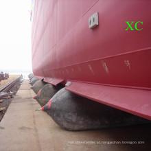 Navio de lançamento e desembarque de saco de ar de borracha marinho