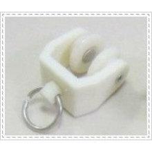 Corriente de color blanco Corredores de carril de la cortina con la rueda y para la pista flexible