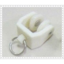 White color plastic Curtain track rail runners with wheel and for flexible track