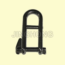 SS: Long Dee Shackle With Double Captive Pin