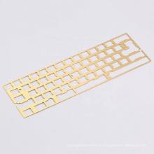 Custom CNC 60% PVD Brass mechanical keyboard Plate