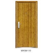 Expert Supplier Steel Wooden Door (WX-SW-110)