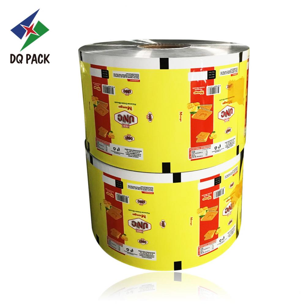Cookies flexible laminated film with printing
