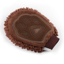 Toalha de microfibra de higiene para animais de estimação Luvas de escova para desdobramento