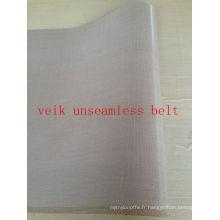 PTFE bande transporteuse sans soudure ceinture pour fusing machine PTFE enduit fibre de verre tissu résistant à la chaleur anti statique antiadhésive